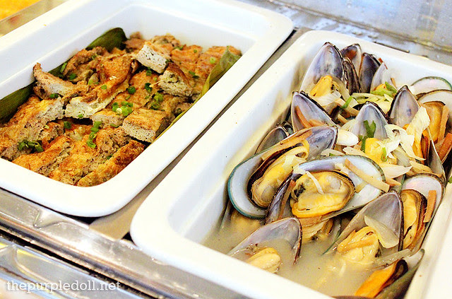 Entrees - Tortang Talong and Steamed Mussels in Ginger Broth