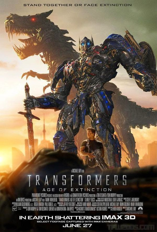 A TRANSFORMERS: AGE OF EXTINCTION theatrical poster.