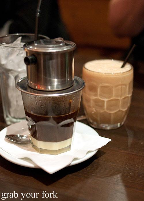 vietnamese iced coffee and teh tarik at eggless dessert cafe, goodwood, adelaide