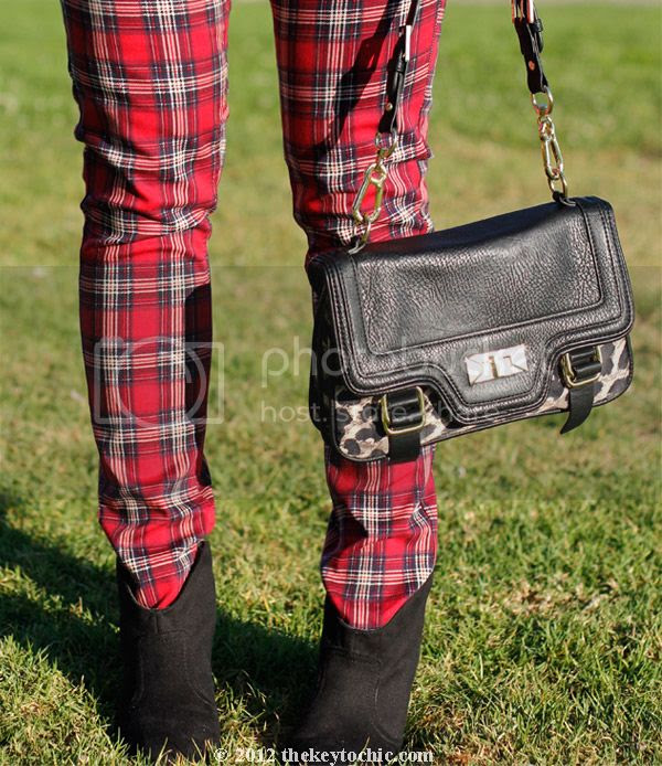Jovonnista studded blouse, H&M plaid jeans, Mossimo Kacey boots, Los Angeles fashion blog, southern California style