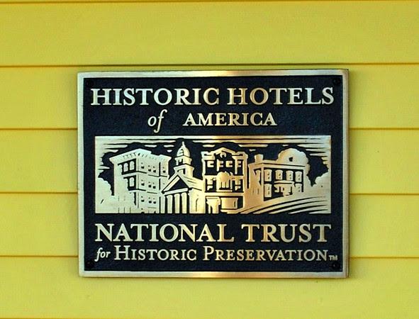 Historic Hotels of America Plaque