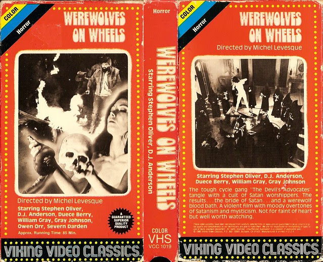 Werewolves On Wheels (VHS Box Art)