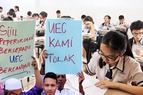 Kerajaan Melayu Perikatan Nasional iktiraf sijil UEC?