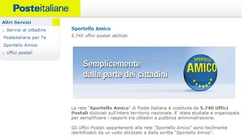 Poste Italiane   Sportello Amico