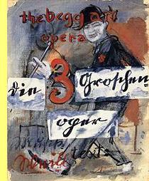 Cartaz do lançamento da 'Opera dos três vintens', em 1928.