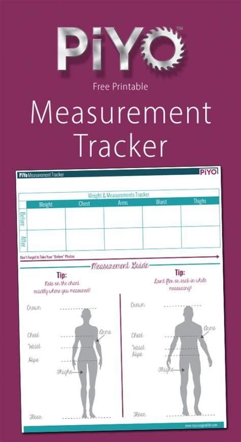 printable piyo measurement chart  crazy good life