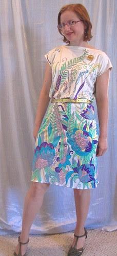 Silk Jersey Top and Skirt