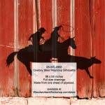 Cowboy Steer Roundup Silhouette Yard Art Woodworking Pattern - fee plans from WoodworkersWorkshop® Online Store - cowboys,rodeo,steer tripping,ranchers,cowhands,cattleman,yard art,painting wood crafts,drawings,plywood,plywoodworking plans,woodworkers projects,workshop blueprints