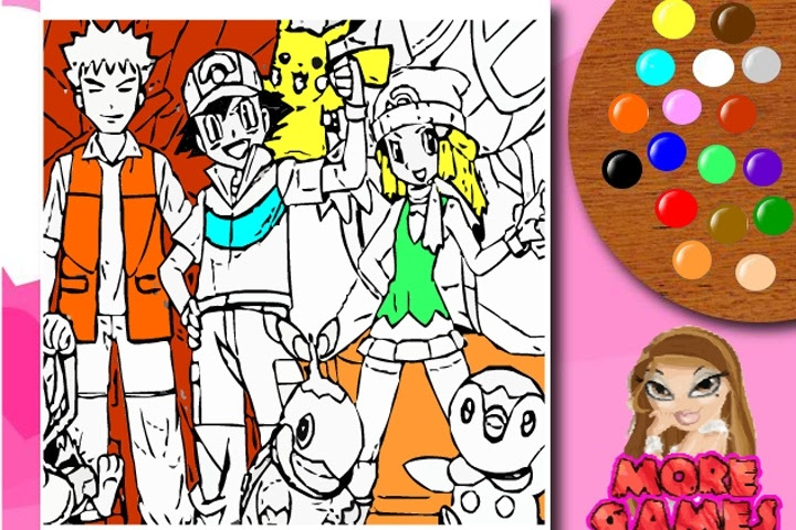 Pokemon Coloring Game - Coloring games - Games Loon