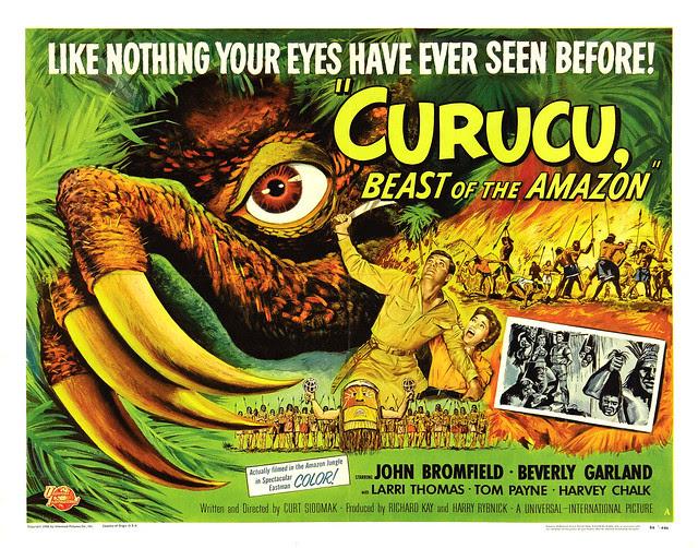 Reynold Brown - Curucu, Beast of the Amazon (Universal International, 1956) half sheet