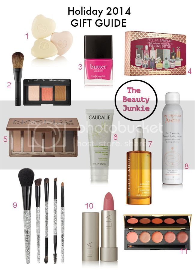 holiday 2014 beauty gift guide, gift ideas for the beauty junkie