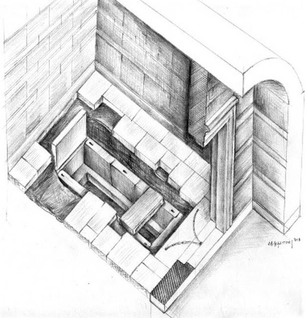 A sketch of the tomb