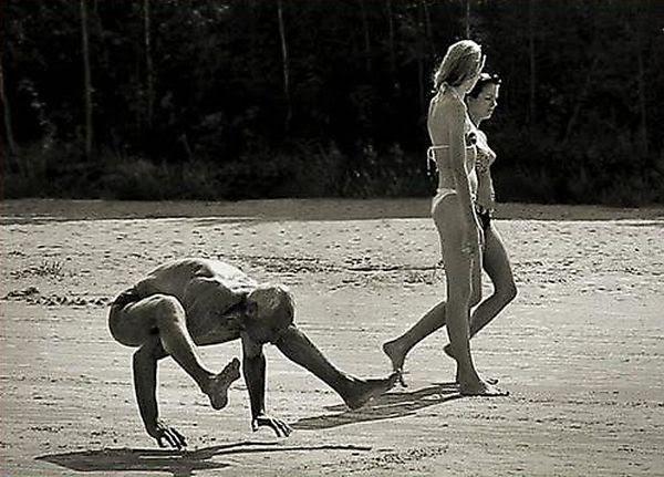 Пляж, море, фото на память