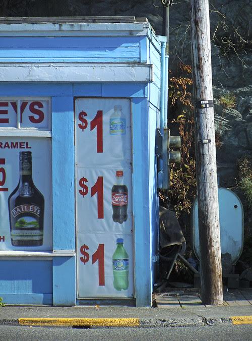 sign offering cheap soda, Ketchikan, Alaska