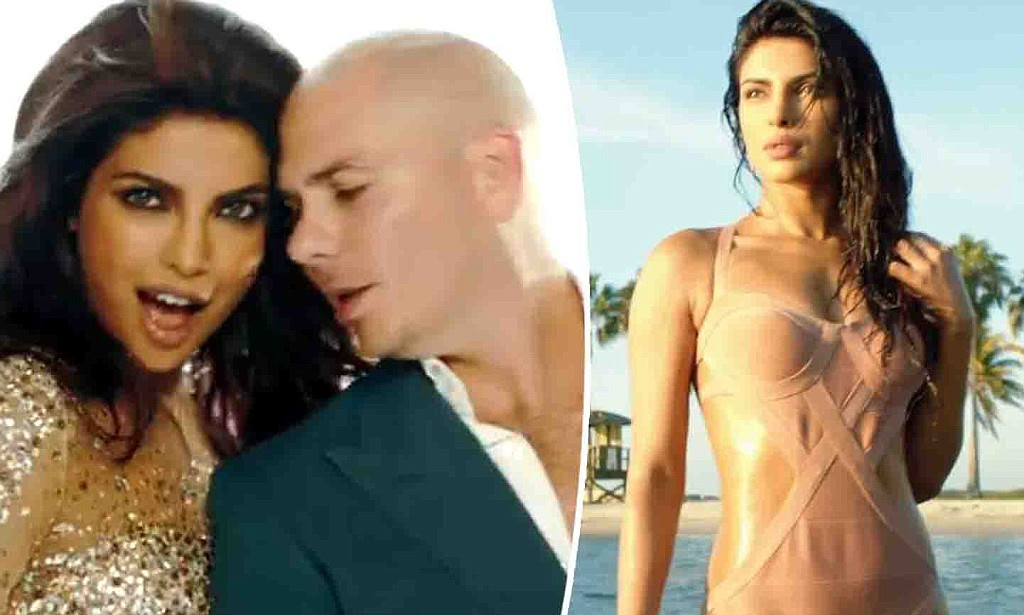 Priyanka Chopra slips into a swimsuit for Pitbull's new video 'Exotic ...