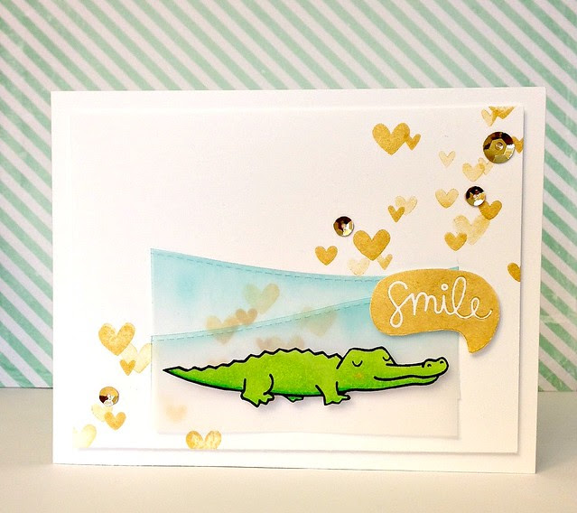 smile (crocodile) card - ls