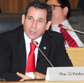 O deputado Zé Carlos do PT. Foto: Agência Assembleia / Divulgação.