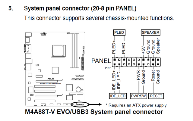 Motherboard Front Panel Connection Diagram