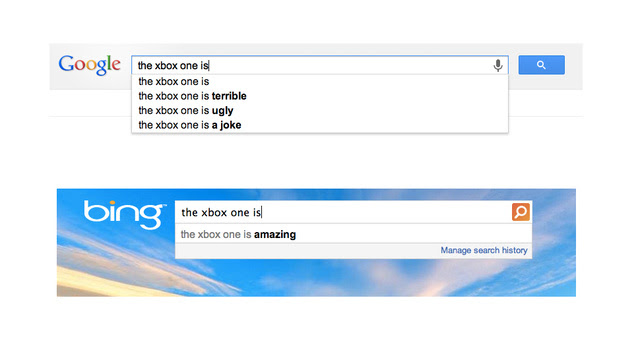 The Hilarious Difference Between Google and Bing in One Picture