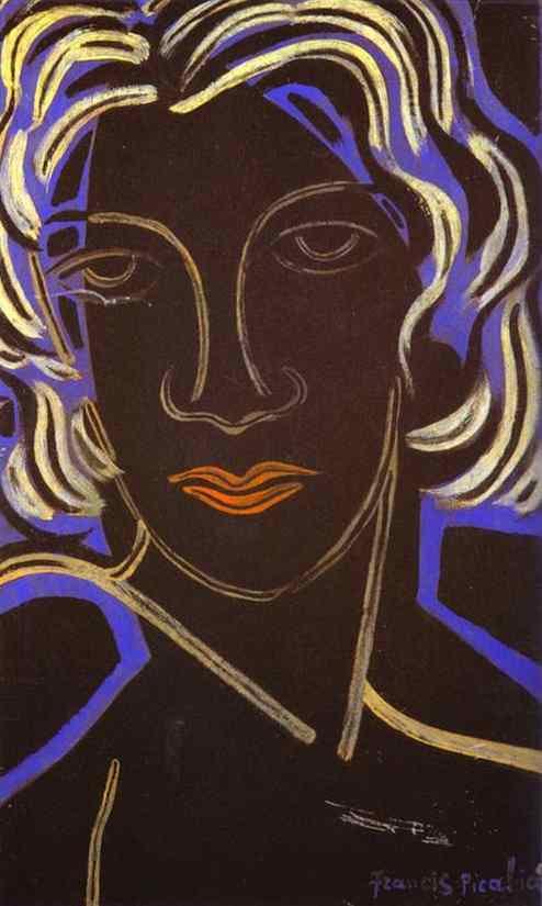 Francis Picabia - Face of a Woman.Visage de femme