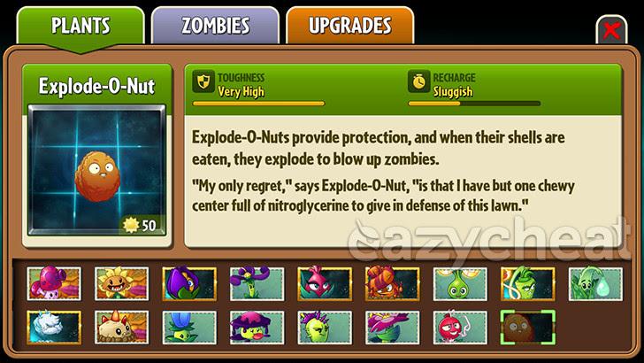 Plants vs. Zombies 2 v5.0.1 Cheats