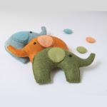 Cartamodello Elefantino in feltro