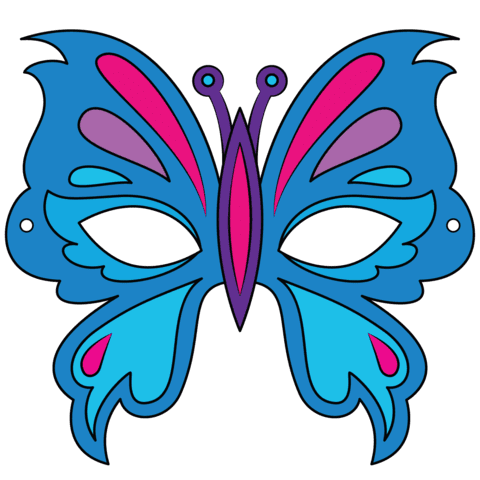 Butterfly Mask Template | Free Printable Papercraft Templates