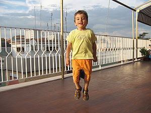 A child jumping