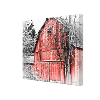 Gorgeous Red Barn Stretched Canvas Prints