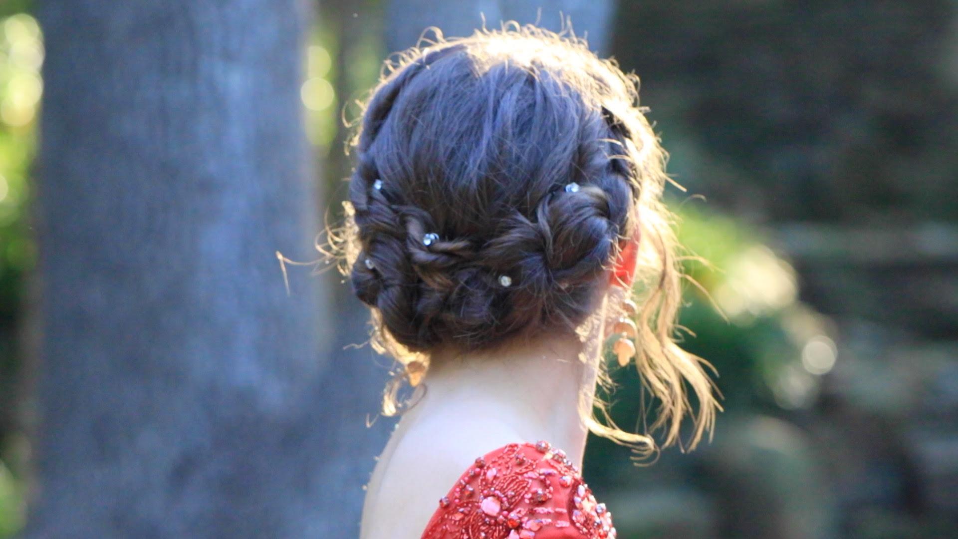 Rope Twist Updo Homecoming Hairstyles Cute Girls Hairstyles
