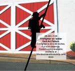 Firefighter on ladder Silhouette Yard Art Woodworking Pattern - fee plans from WoodworkersWorkshop® Online Store - firefighters,firemen,fireman,shadows,silhouettes,yard art,painting wood crafts,scrollsawing patterns,drawings,plywood,plywoodworking plans,woodworkers projects,workshop blueprints