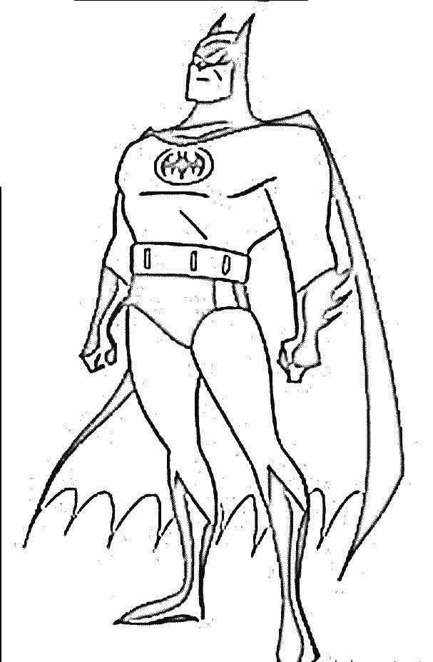 Batman Boyama Sayfasi 3 Okul öncesi Etkinlik Faliyetleri