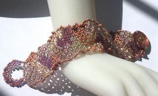 Inspired Jewelry By Ann Burke: Some New Freeform Netting Bracelets