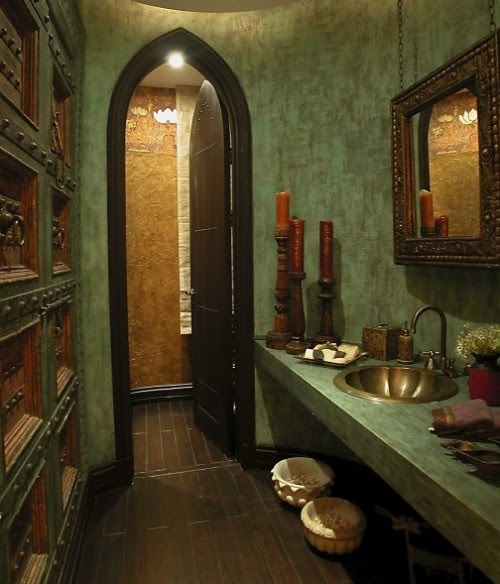 ThatBohemianGirl - My Bohemian Home ~ Bathrooms and Powder Rooms I...