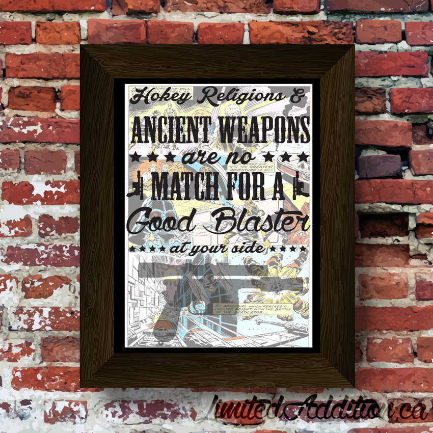 Star Wars Hokey Religion And Ancient Weapons Quote Upcycled
