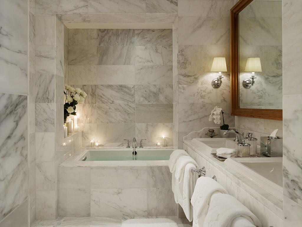 Home Architec Ideas Marble Bathroom Floor Tiles Design