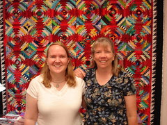 2 bloggers in a quilt shop