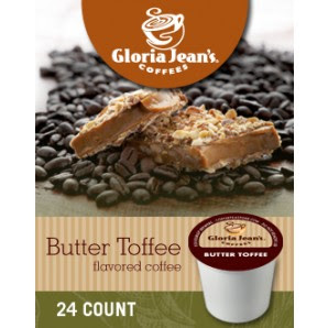 Gloria Jeans Butter Toffee Keurig Kcup coffee