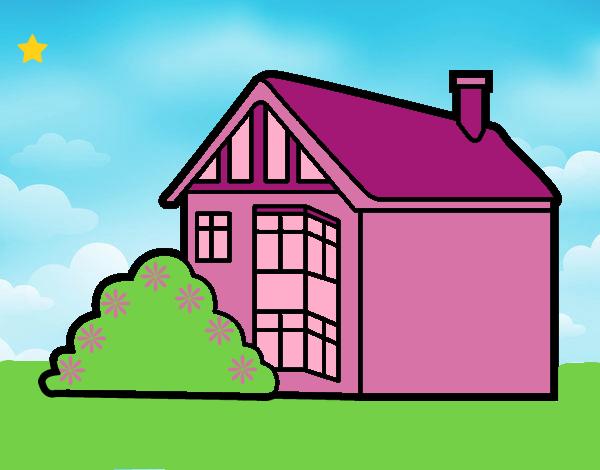 Dibujo De Casa Moderna Pintado Por Lunalunita En Dibujosnet El Día