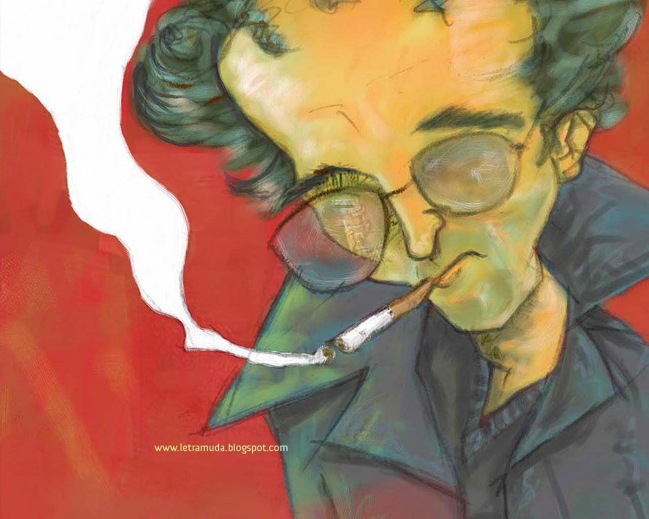Wallpaper de Roberto Bolaño 1280*1024