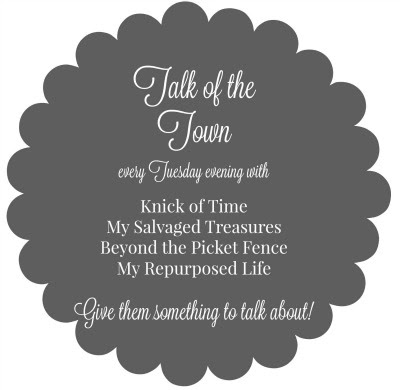 Talk of the Town link party for bloggers - MySalvagedTreasures.com