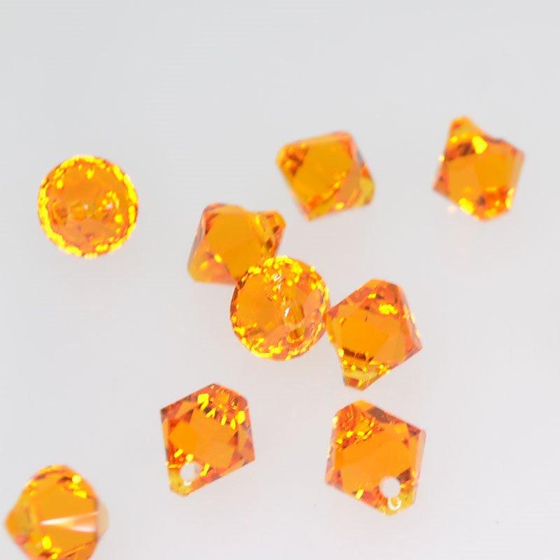 34763011025259 Swarovski Elements - 6 mm Top-Drilled Bicone (6328) - Tangerine (1)