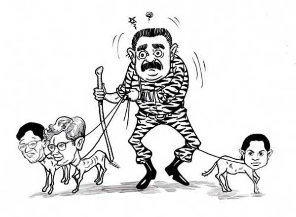 people dancing cartoon. Lankan media is dancing to