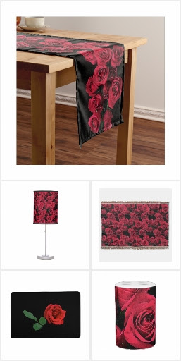 Red Roses Home Decor