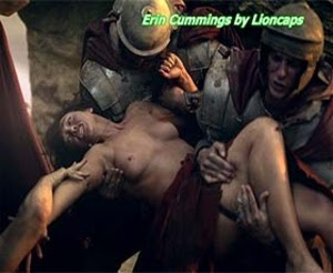 Erin Cummings naked in season 1 of Spartacus