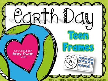 Earth Day Teen Frame (10 Frame) math center/station FREEBIE!!
