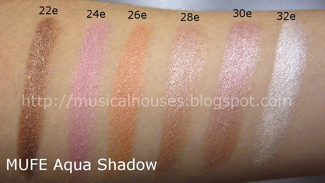 mufe aqua shadow pencils swatches 2