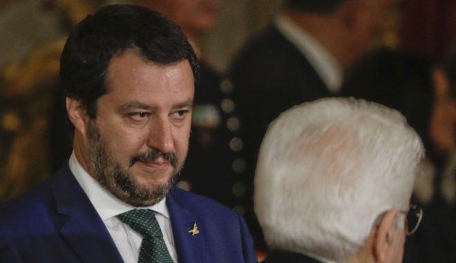Ο επικεφαλής της Λέγκας Ματέο Σαλβίνι