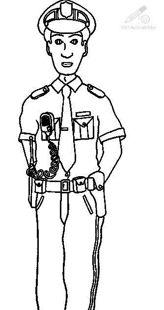 polizei zum ausmalen  ausmalbilder und vorlagen