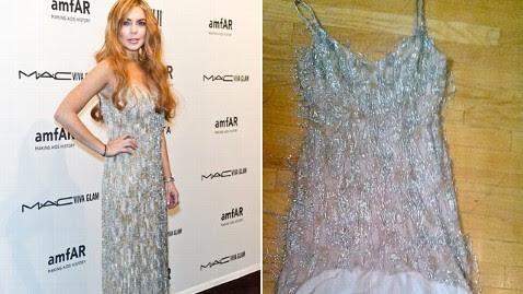 gty lohan dress split kb 130221 wblog Lindsay Lohan Ruins Borrowed Dress: Report